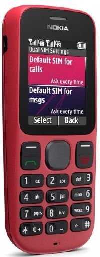 Nokia, Mobilní telefon pro seniory Nokia 101 Coral Red