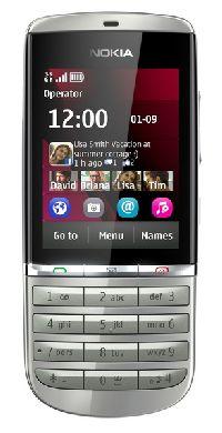 Nokia, Mobilní telefon pro seniory Nokia Asha 300 White Silver