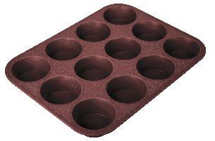 Tescoma, Pečení Tescoma Forma 12 muffinů DELÍCIA SILICONE (629350) - hnědá