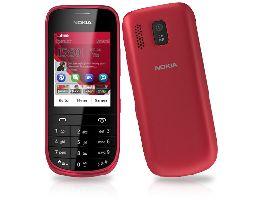 Nokia, Mobilní telefon pro seniory Nokia Asha 203 Dark Red