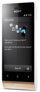Sony, Mobilní telefony  Sony Xperia miro ST23i White with Gold