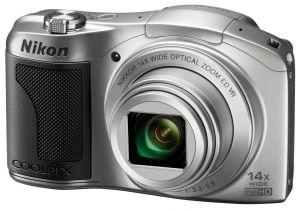 Nikon, Fotoaparát Fotoaparát Nikon Coolpix L610 silver + nabíječka a 2 AA akumulátory