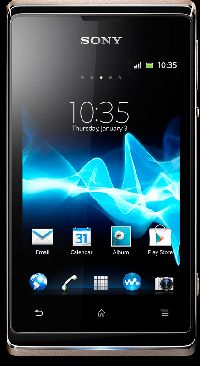 Sony, Mobilní telefon pro seniory Sony Xperia E Dual, zlatá