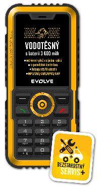 Evolveo, Mobilní telefon pro seniory Evolveo Gladiator RG300, žlutý - II. jakost