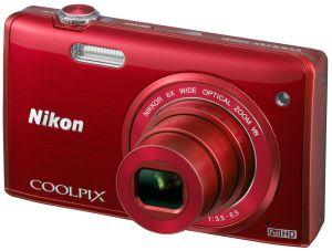 Nikon, Fotoaparát Fotoaparát Nikon Coolpix S5200 Red