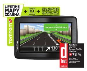 TomTom, GPS navigace GPS navigace TomTom VIA 135 Europe Traffic LIFETIME mapy, 1EQ5.002.12