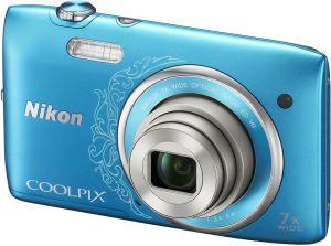 Nikon, Fotoaparát Fotoaparát Nikon Coolpix S3500 Blue Lineart