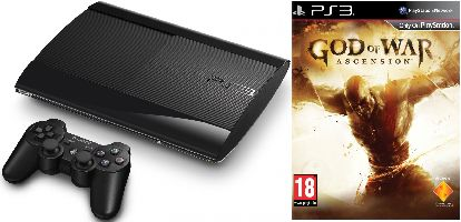 Sony, Playstation 3 Sony Playstation 3 - 500GB SuperSlim + God of War: Ascension