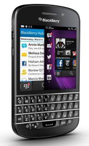 BlackBerry,  BlackBerry Q10 QWERTY, černá