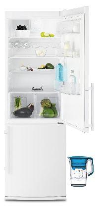 Electrolux, Lednička s mrazákem Electrolux EN3455COW + filtrační konvice AquaSense zdarma! + okamžitá sleva 1500 Kč