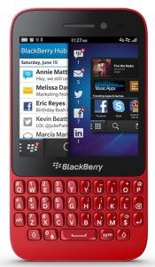 BlackBerry, Mobilní telefony  BlackBerry Q5 QWERTY, červená