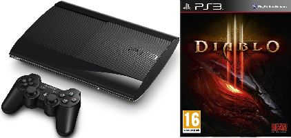 Sony, Playstation 3 Sony Playstation 3 - 500GB SuperSlim + Diablo III