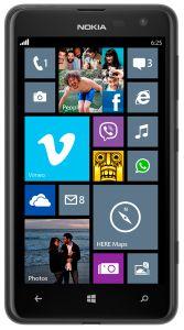 Nokia,  Nokia Lumia 625, černá