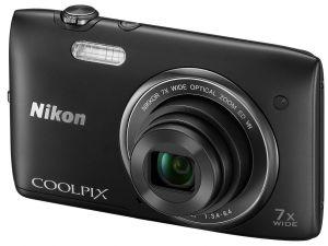 Nikon, Fotoaparát Fotoaparát Nikon Coolpix S3500 Black + 8GB karta + pouzdro ZDARMA!