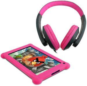 Point of View, Tablet Tablet Point of View Mobii 703, růžová + sluchátka