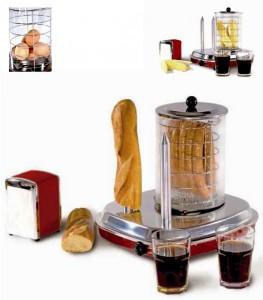 Stroj na párek v rohlíku hotdogovač Guzzanti Retro